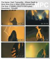Dark Tranquillity-Where Death Is Most Alive (Live in Milan 2008) (DVDRip)