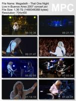 Megadeth - That One Night: Live in Buenos Aires (DVDRip) mp3