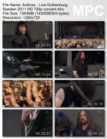 Anthrax-Live Gothenburg, Sweden (BDRip HD 720p )