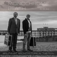 Brutalist Architecture in the Sun-Monochrome Beach