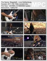 Megadeth-Live Gothenburg, Sweden (BDRip HD 720p)