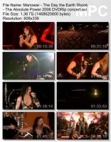 Manowar-The Day The Earth Shook, The Absolute Power (DVDRip)